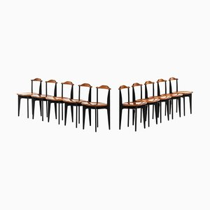 Thema Dining Chairs by Yngve Ekström for Swedese, 1953, Set of 10