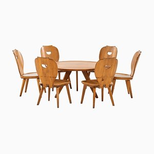Carl Malmsten Seating Group by Carl Malmsten for Svensk Fur, 1950s, Set of 7