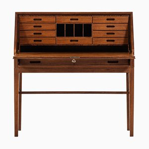 Danish Rosewood Secretaire by Kai Winding for P. Jeppesen, 1950s