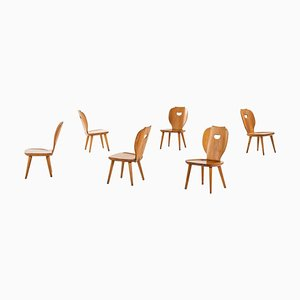 Easy Chairs by Carl Malmsten for Svensk Fur, 1950s, Set of 6