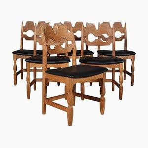 Razorblade Dining Chairs by Henning Kjærnulf, 1970s