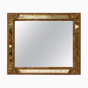 French Mirror with Wood Golden Frame, 1980s