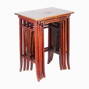 Nr. 21 Nesting Tables Set from Gebrüder Thonet Vienna