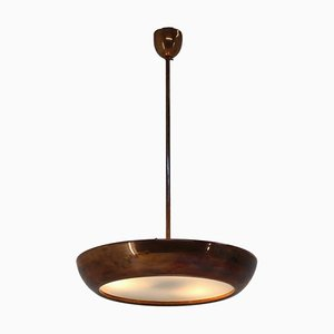 Space Age UFO Brass Pendant Lamp by Josef Hurka for Napako, 1950s