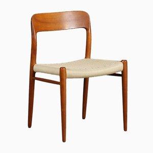 Danish Model No. 75 Chair by Niels O. Møller for J. L. Møllers Møbelfabrik, 1980s