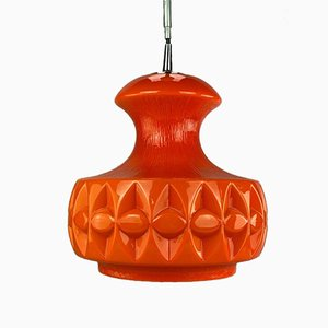 Glass Ceiling Lamp from Peill & Putzler, 1960s