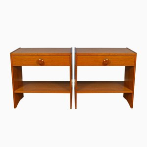 Mid-Century Retro Vintage Danish Teak Bedside Tables, Set of 2