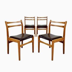 Mid-Century Beech Dining Chairs, Set of 4