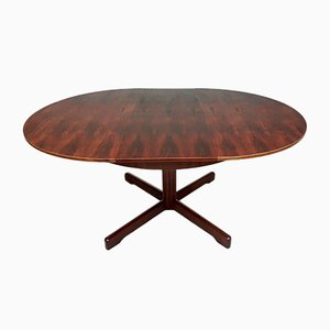 Mid-Century Stunning Rosewood Extending Circular Dining Table from McIntosh