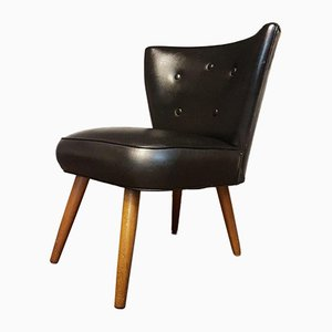 Mid-Century Black Cocktail Armchair