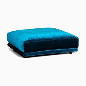 Velvet Fabric Stool Blue Ottoman from Bretz Napali