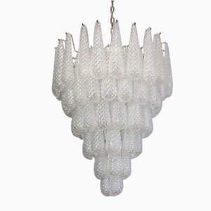 Large Italian Murano Glass Chandelier in the Style of Ercole Barovier