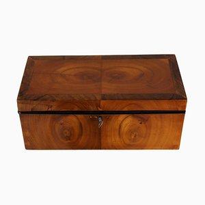 Biedermeier Cherry and Walnut Veneer Box, 1820s