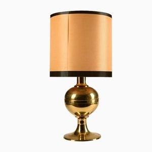 Goldene Messing Lampe, 1980er