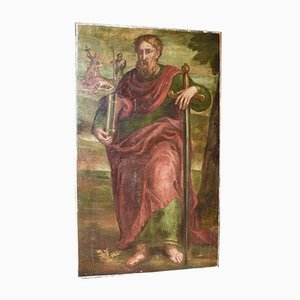 Antique Painted Picture of San Paolo