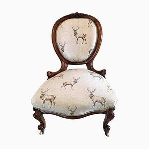 Fine Antique 19th Century Carved Walnut Ladies Chair