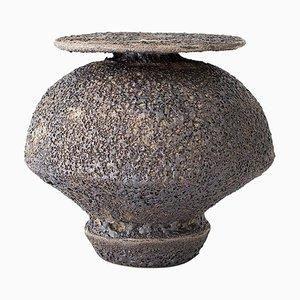 Isolated N.18 Stoneware Vase by Raquel Vidal & Pedro Paz