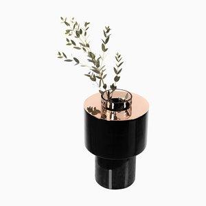 Vase aus Keramik & Kupfer von Eric Willemart