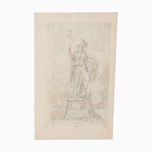 Studie für Monument - Originalzeichnung - 20. Jahrhundert 20. Jahrhundert