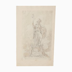 Study for Monument - Original Drawing - 20th Century 20th Century