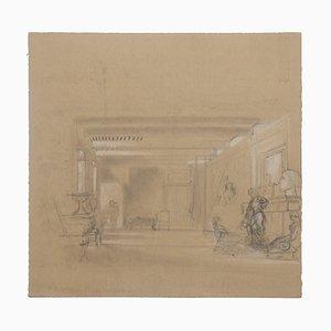Scenography - Original Pencil Drawing - 20th Century 20th Century