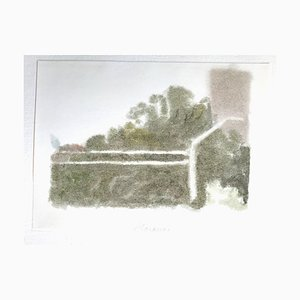 Wall with a Building - Vintage Offset Print after Giorgio Morandi - 1973 1973
