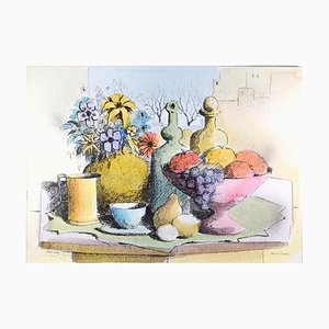 Still Life - Original Lithograph by Paolo Toschi - 1980s 1980s