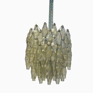Italian Glass & Metal Chandelier from Venini, 1950s