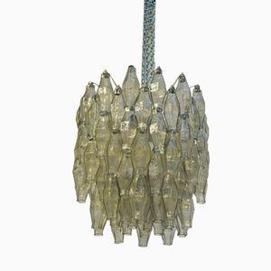 Italian Glass & Metal Chandelier from Venini, 1950s