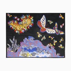 Gewebter Aubusson Papillons Wandteppich von Jean Lurcat für Goubely Workshop, 1950er
