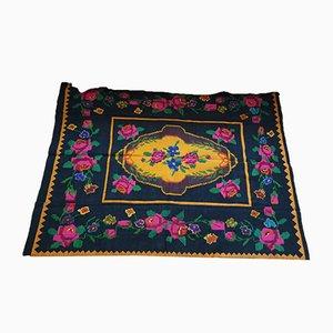 Antique Romanian Handmade Wool Rug