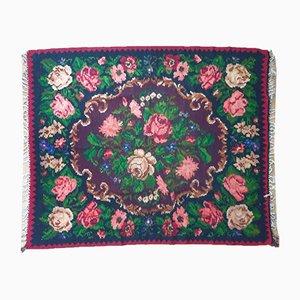 Moldavian Handwoven Floral Teppich
