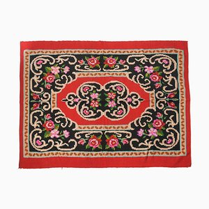 Red Wool Soft Rug or Wall Tapestry
