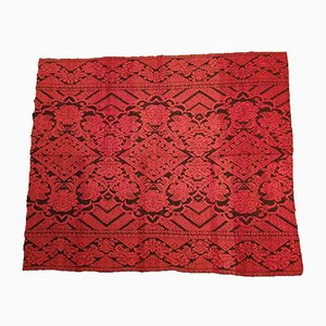 Vintage Handwoven Red & Black Cover or Tapestry, 1980s