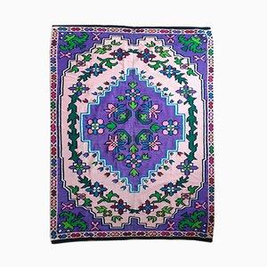 Vintage Handmade Purple Rug or Tapestry, 2000s
