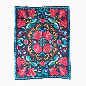 Handgeknüpfter rumänischer rumänischer Vintage Teppich, 1980er