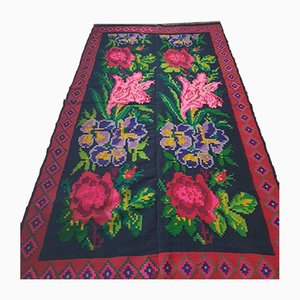 Large Romanian Floral Runner, 1950s