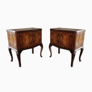 Tables de Chevet Art Déco Vintage, Italie, Set de 2