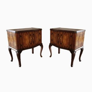 Vintage Art Deco Italian Nightstands, Set of 2