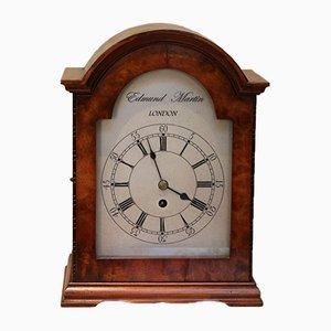 Antique English Burr Walnut Bracket Clock