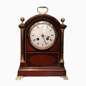 Antique Mahogany and Inlay Bracket Clock