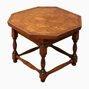 Small Oak Parquetry Top Side Table, 1920s