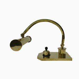 Lámpara de piano Art Déco de latón pulido