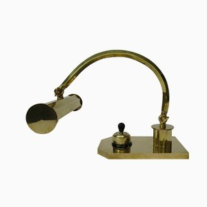 Polished Brass Art Deco Piano Light