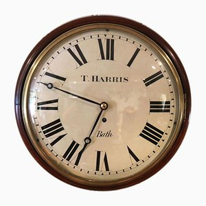 19th-Century Regency Convex Fusee Dial Clock