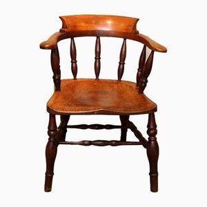 19th-Century Elm and Beech Bow Armchair