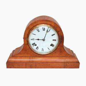 19th-Century Maple Napoleon Hat Mantel Clock