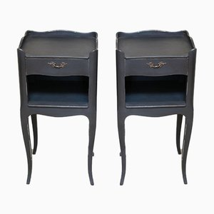 Painted Bedside Cabinets, 1950s, Set of 2