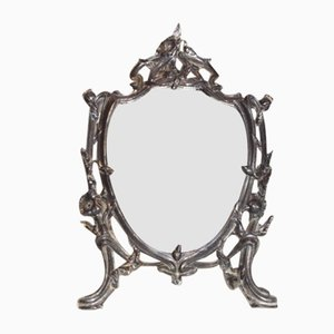 Antique French Spelter Mirror