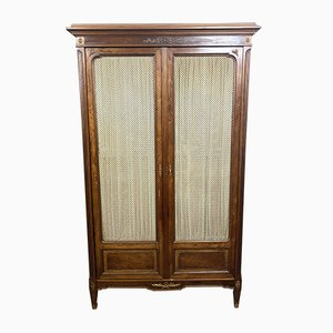 Antique Louis XVI Elm and Mahogany Wardrobe